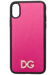 Dolce And Gabbana Logo Plaque Iphone X Case Pink