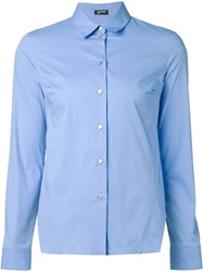 Jil Sander Navy Side Slit Shirt Blue