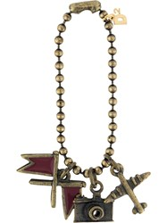 Dsquared2 Charm Pendant Ball Chain Zamac Brass Metallic
