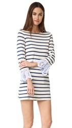 Sea Stripe And Eyelet Dress Multi