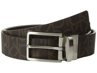 Calvin Klein 35Mm Reversible Flat Strap Ck Logo To Smooth Harness Brown Brown Men's Belts