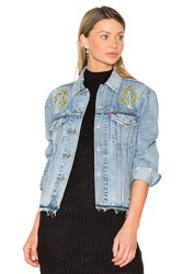 Levi's Palm Embroidered Denim Jacket Medium Wash