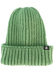 Paul Smith Ps By Chunky Knit Beanie Green