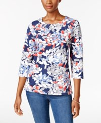 Alfred Dunner Floral Print Top Multi