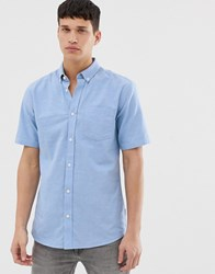 Only And Sons Short Sleeve Shirt Blue