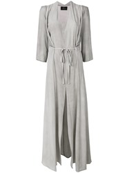 Lost And Found Ria Dunn Cut Out Long Dress Grey