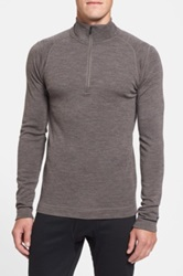 Smartwool 250G Midweight Zip Base Layer Top Gray
