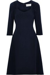 Mikael Aghal Woman Flared Cady Dress Midnight Blue