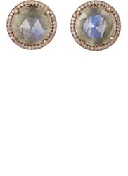 Irene Neuwirth Women's Mixed Gemstone Circular Studs Black