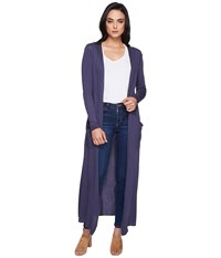 Lamade Reed Duster Cardigan Denim Women's Sweater Blue
