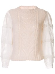 Sea Open Knit Jumper White