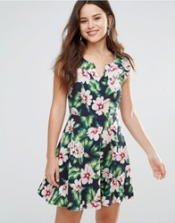 Louche Gael Dress In Floral Print Navy