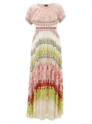 Missoni Metallic Knit Maxi Dress Green Multi