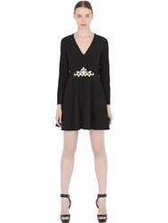 Stefano De Lellis Embellished Long Sleeve Dress