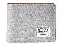Herschel Hank Rfid Light Grey Crosshatch Tan Synthetic Leather Wallet Handbags Gray