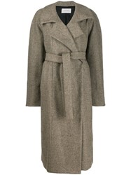 Christophe Lemaire Belted Coat Neutrals