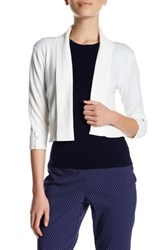 Premise Studio 3 4 Length Sleeve Shawl Cardigan Petite White
