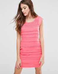Lavand Panelled Dress Pink