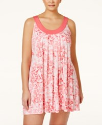 Alfani Plus Size Scoop Neck Chemise Only At Macy's Coral Ivory Floral