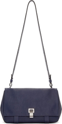 Proenza Schouler New Navy Pebbled Leather Ps Courier Bag