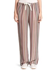 Theory Winszlee Silk Track Pants Multicolor