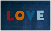 Oeuf Love Rug Navy Multi