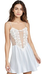 Flora Nikrooz Showstopper Charmeuse Lace Chemise Artic Ice