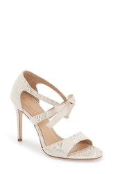 Women's Bettye Muller 'Dreamy' Ankle Strap Sandal Ivory Fabric