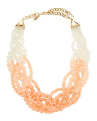 Emily And Ashley Beaded Twisted Statement Necklace Blush