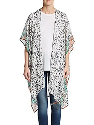 Saks Fifth Avenue Safari Ikat Print Wrap