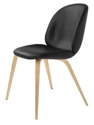 Gubi Beetle Upholstered Dining Chair Wood Base