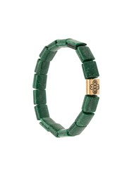 Nialaya Jewelry Dorje Jade Flat Beaded Bracelet Green