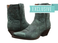 Dan Post Flat Iron Studs Turquoise Vintage Cowboy Boots Green