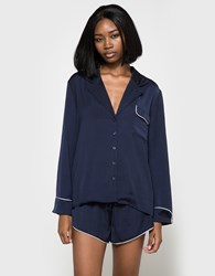 Which We Want Louise Pajama Top Navy