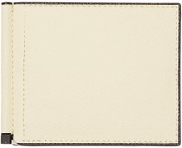 Valextra Off White Simple Grip Spring Wallet