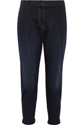 Brunello Cucinelli High Rise Tapered Jeans Blue