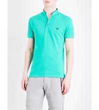 The Kooples Classic Fit Cotton Polo Shirt Grn49