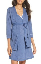 Belabumbum Maternity Nursing Robe And Chemise Chambray