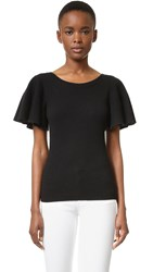 Temperley London Odelia Cashmere Knit Top Black