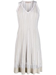 D.Exterior Lightweight Pleated Dress Neutrals