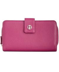 Giani Bernini Softy Leather All In One Wallet Created For Macy's Raspberry