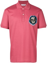 Alexander Mcqueen Embroidered Skull Polo Shirt Pink