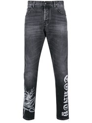 Marcelo Burlon County Of Milan Printed Jeans Black
