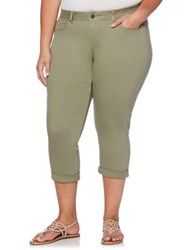 Rafaella Plus Colored Capri Jeans Pale Ivy