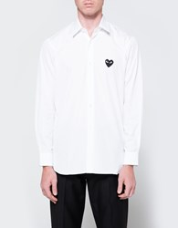 Comme Des Garcons Play Shirt Black Heart White