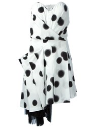 Marc By Marc Jacobs Blurred Dot Strapless Dress White