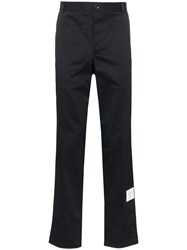 Thom Browne Unconstructed Cotton Twill Trouser Blue