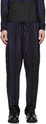 3.1 Phillip Lim Black And Blue Striped Lounge Pants
