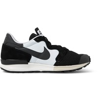 Nike Air Berwuda Leather Trimmed Mesh And Tech Canvas Sneakers Black