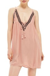 Topshop Women's Embroidered Cover Up Slipdress Blush